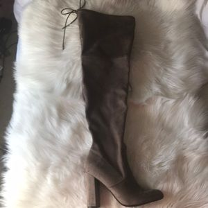 Suede over the knee boots!